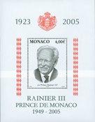 Monaco - Rainier III In Memoriam - Postfrisk miniark