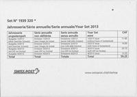 Suisse - Collection annuelle 2013 - Coll.Annuelle