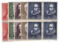 Nederland Zomerzegels 1947 in blok van vier - Nr. 490-494 - Postfris