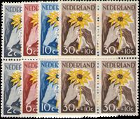 Hollanti 1949 - NVPH 538-541 - Postituore - nelilöinä
