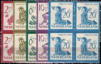 Nederland Kinderzegels 1950 in blok van vier - Nr.  563-567 - Postfris
