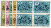 Holland 1952 - NVPH 596-600 - Postfrisk - Block of4