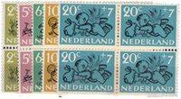 Netherlands 1952 - NVPH 596-600 - Mint - Block of4