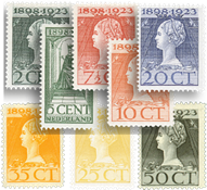 Holland 1923 - NVPH 121-128 - Ubrugt