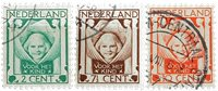 Holland 1924 - NVPH 141-143 - Stemplet