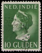 Nederland Indië - 10 gld lichtgroen 1941 (nr. 288,  gebruikt)