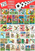 250 diff. football stamps