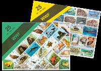 WWF paquet avec 25 timbres différents