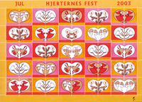Danemark - Feuille Noël 2003