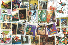 Cuba - Giant collection of 2000 different stamps in cpl sets - Cancelled