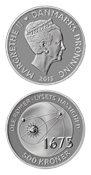 Videnskabsmønt Ole Rømer 500 kr sølv