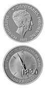 500 kr. sølv H.C.Ørsted