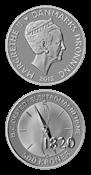 Videnskabsmønt H.C.Ørsted 500 kr. sølv