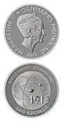 Videnskabsmønt Niels Bohr 500 kr. sølv