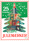 Denmark - 25 different Christmas seals