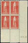 France 1938 - YT 395 - Bloc de quatre