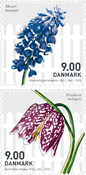 Danmark - Forårsblomster - Postfrisk sæt 2v