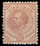 Curacao - 25 ct oranjebruin Willem III (nr. 7, ongebruikt)