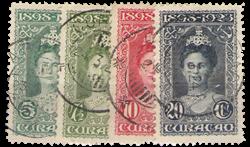Curacao - 4 waardes uit Jubileumserie 1923 (nr. 75-78, gebruikt)