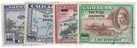 Curacao - Overdruk 'voor Krijgsgevangen' (LP 41-LP44, gebruikt)