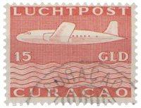 Curacao - losse waarde uit Vliegtuig 1947 (nr. LP 87, gebruikt)