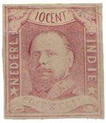 Nederland Indië - Koning Willem III 1864 (nr.1, ongebruikt)