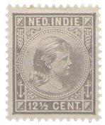 Nederland Indië - 12 1/2 ct grijs (nr. 24, ongebruikt)