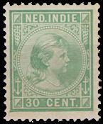 Nederland Indië - 30 ct lichtgroen (nr. 28, ongebruikt)