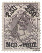 Nederland Indië - 2,50 op 2,50 uit Hulpuitgifte 1900 (overdruk in zwart) (n