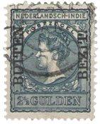 Nederland Indië - 2 1/2 gld Overdruk in zwart met Buiten Bezit (nr. 98, geb