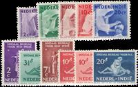 Nederland Indië - Missie 1938 (nr. 241-245, ongebruikt) en Sociaal bureau (