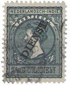 Nederland Indië - Overdruk dienst over frankeerzegels  (D27, gebruikt)