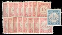 Nederland Indië - Cijfer en waarde in rood 1913-1940 (nr. P23-P39, ongebrui