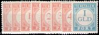 Nederland Indië - Indische druk 1941 (nr. P41-P48,  ongebruikt)