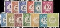 Nederland Indië - Cijfers in gewijzigde tekening (P53-P65, ongebruikt)