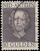 Nederlandse Antillen - 10 gld 'en face' (nr. 233, gebruikt)