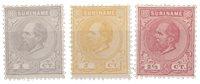 Suriname - drie eerste zegels van suriname (nr. 1-3, ongebruikt)