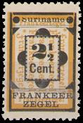 Suriname - Hulpzegel 1892 type II (nr 22a, ongebruikt)
