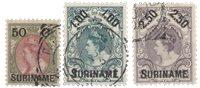 Suriname - Hulpuitgifte 1900 (nr. 34-36, gebruikt)