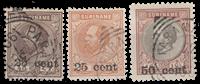 Suriname - Hulpuitgifte losse waardes (nr. 37+38+39, gebruikt)