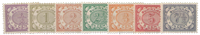 Suriname - Cijfer 1902-1908 (nr. 41-47, ongebruikt)