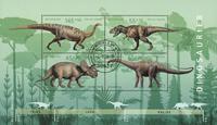 Tyskland - Dinosaurer - Stemplet miniark