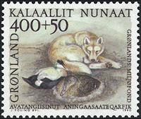 Groenland - 1990. Faune - chien et canard - 400+50  øre - Multicolore