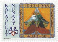 1993 Cinquantenaire du mouvement scout au Groenland - 4,00+0,50 kr.
