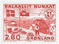 Grønland - Overgang til Hjemmestyre - 2,80 kr. - Rød
