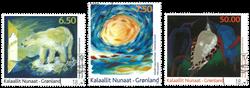 Groenland - Art moderne IV '10 - Série obl. 3v