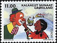 Grønland - 2002. Europafrimærke - 11,00 kr. - Flerfarvet
