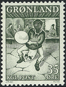 Groenland - Folklore - Danseur - 35 øre - Vert