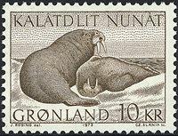 Groenland - 1973. Morses - 10 kr. - Brun