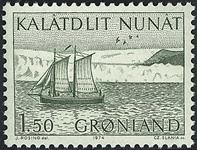Grønland - 1974. Skonnert - 1,50 kr. - Grøn